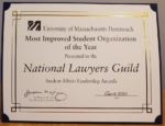 NLG Student Chapter at UMass Honored!